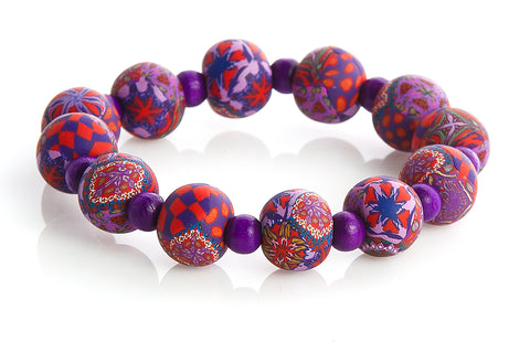 Large Bead Earth Bracelet