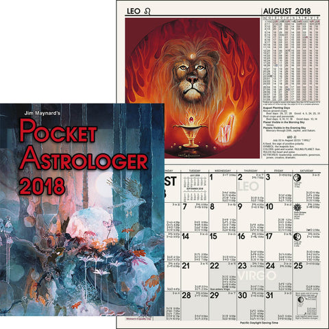 2018 Pocket Astrologer by Jim Maynard