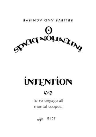 Intention Bracelet: To Re-Engage Mental Scopes