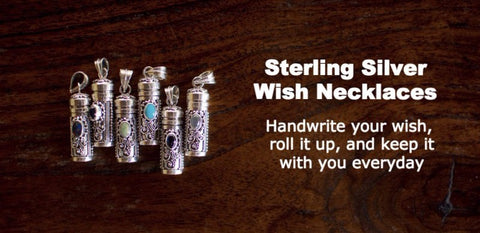 Sterling Silver Wish Necklace