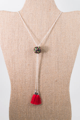 Blackhawks Adjustable Skate Necklace