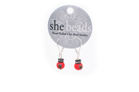 Blackhawks Small Bead Crystal Earrings