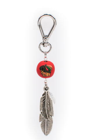 Blackhawks Feather Charm