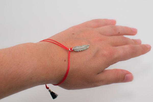 Blackhawks Adjustable Feather Bracelet - Intention Beads | Astrology | Talisman