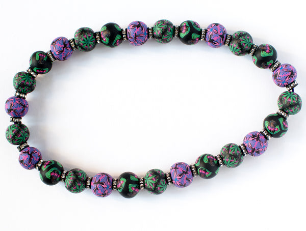 Iris Jumbo Bead Crystal Necklace