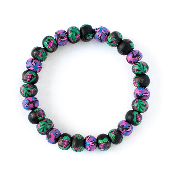 Iris Small Bead All Clay Bracelet (2 color options)