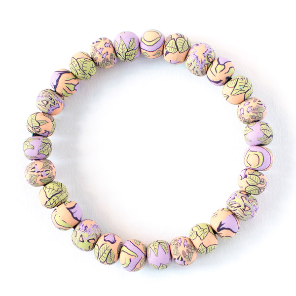 Gloria Small Bead All Clay Bracelet