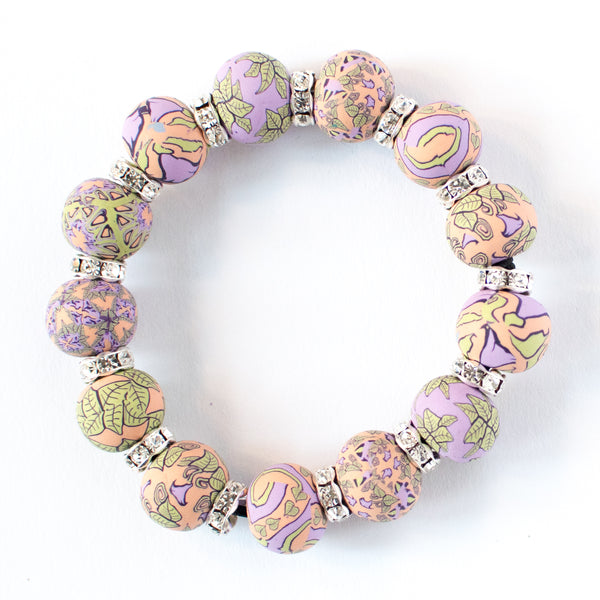 Gloria Large Bead Crystal Bracelet