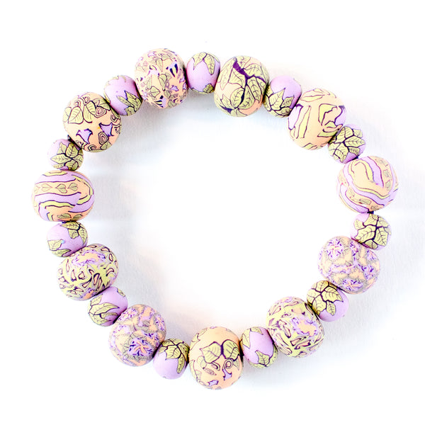 Gloria Large Bead All Clay Bracelet