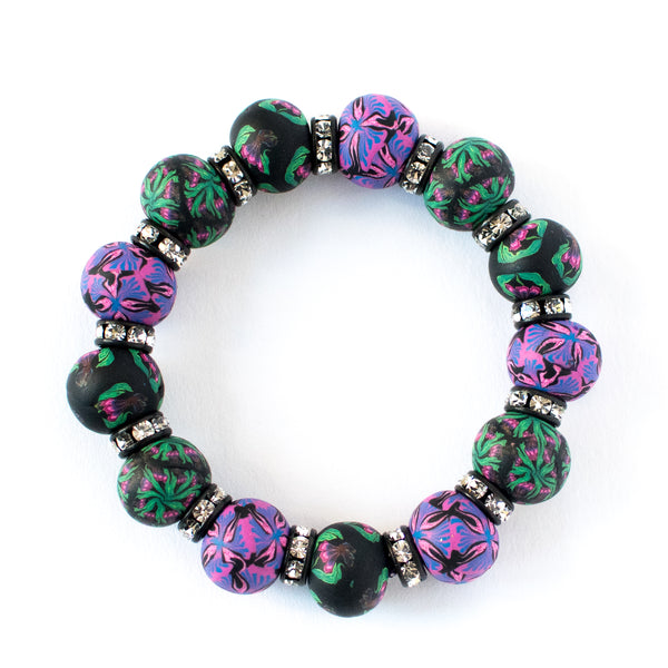Iris Large Bead Crystal Bracelet (2 color options)