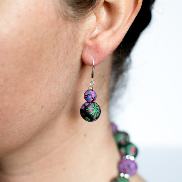 Iris Large Bead All Clay Earrings