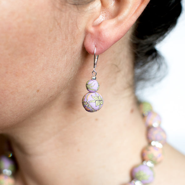 Gloria Large Bead All Clay Earrings
