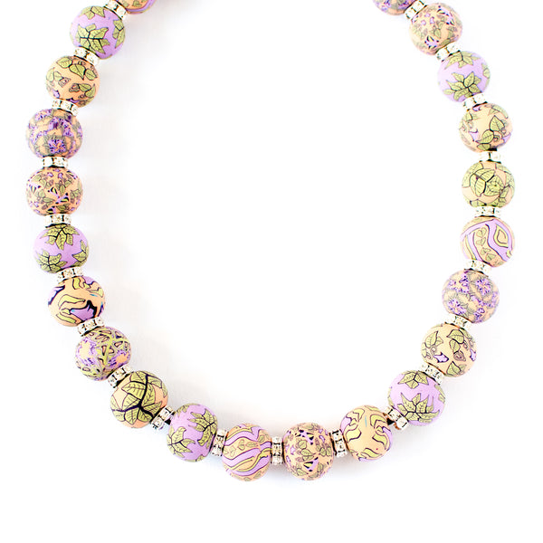 Gloria Jumbo Bead Crystal Necklace