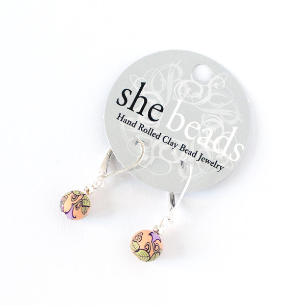Gloria Small Bead All Clay Earrings