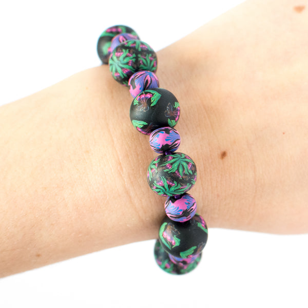 Iris Large Bead All Clay Bracelet