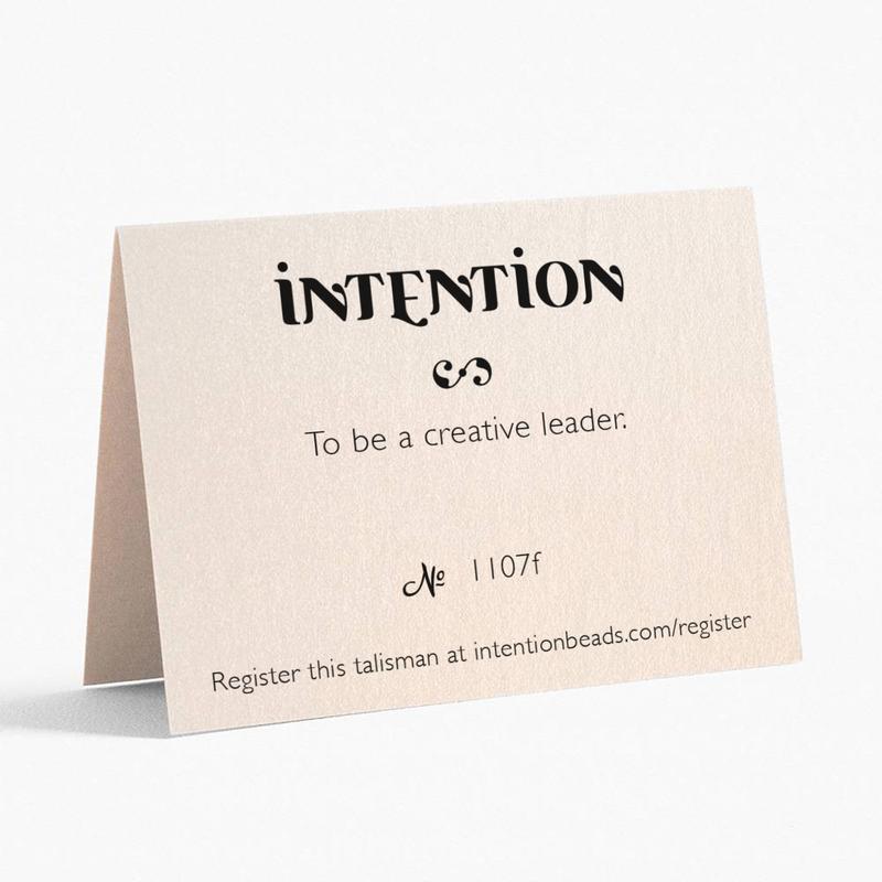 To be a creative leader. - Intention Beads | Astrology | Talisman