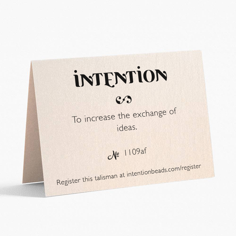 To increase exchange of ideas. - Intention Beads | Astrology | Talisman