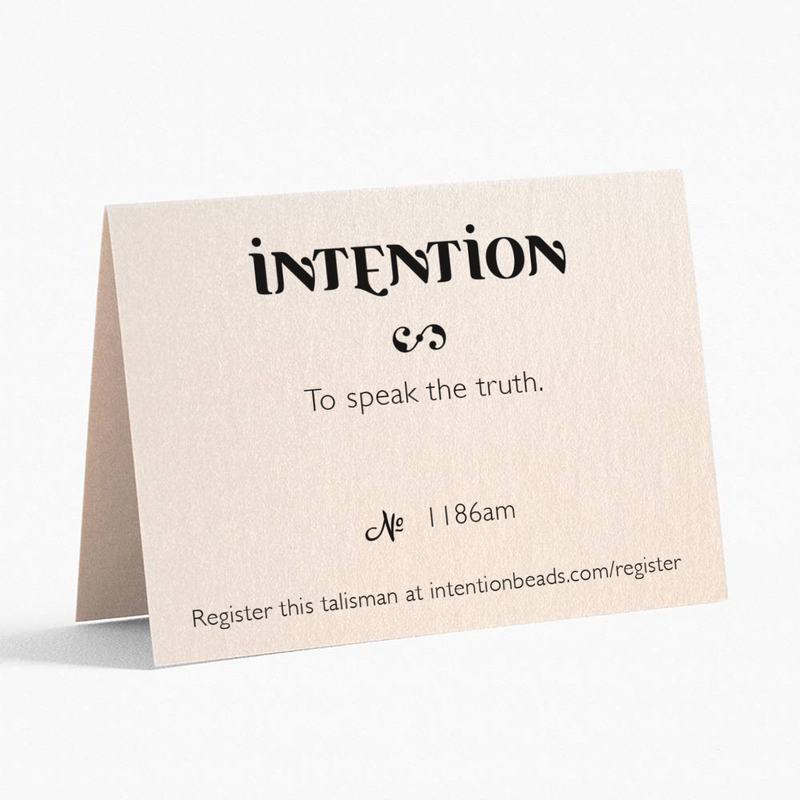 To speak the truth. - Intention Beads | Astrology | Talisman