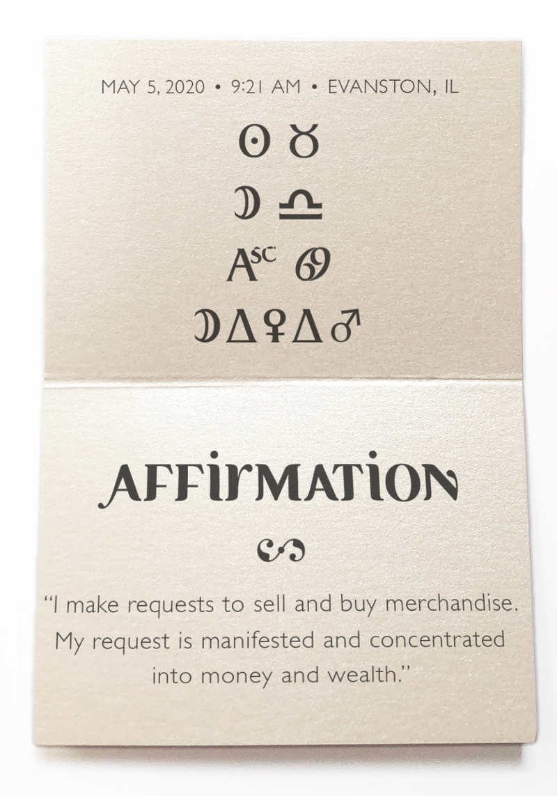 To recognize a lucrative business opportunity. - Intention Beads | Astrology | Talisman