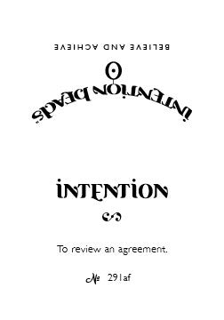 Intention Bracelet: To Review an Agreement