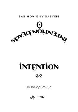 Intention Bracelet: To Be Optimistic
