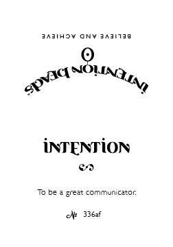 Intention Bracelet: To Be a Great Communicator