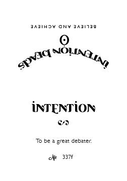 Intention Bracelet: To Be a Great Debater
