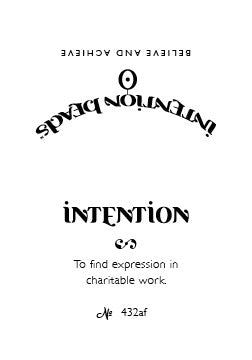 Intention Bracelet: To Find Expression in Charitable Work