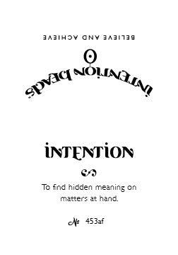 Intention Bracelet: To Find Hidden Meaning on Matters at Hand