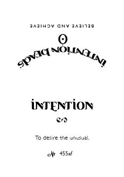 Intention Bracelet: To Desire the Unusual