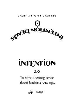 Intention Bracelet: To Have a Strong Sense about Business Dealings