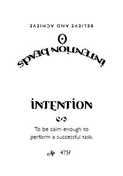 Intention Bracelet: To Be Calm Enough to Perform a Successful Task