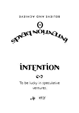 Intention Bracelet: To Be Lucky in Speculative Ventures