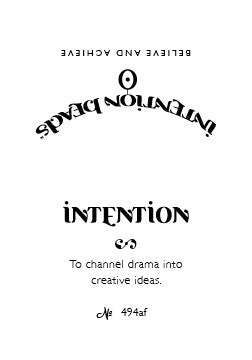Intention Bracelet: To Channel Drama into Creative Ideas