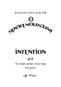 Intention Bracelet: To Meet Others that Help Me Grow