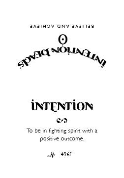 Intention Bracelet: To Be in Fighting Spirit with a Positive Outcome