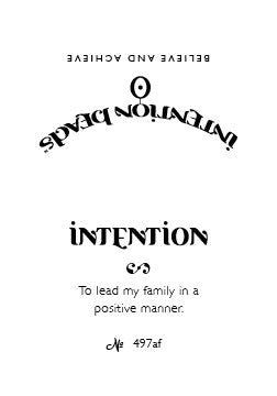Intention Bracelet: To Lead My Family in a Positive Manner