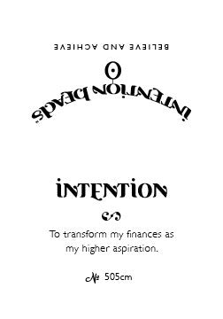 Intention Bracelet: To Transform My Finances as My Higher Aspiration