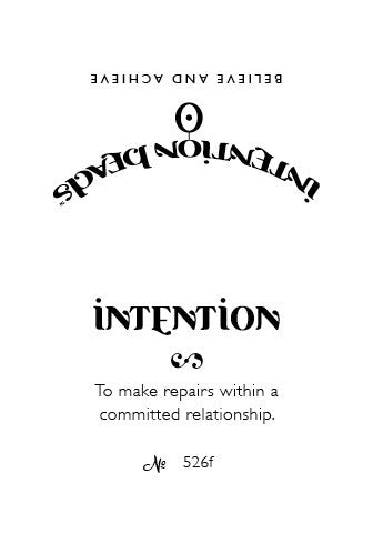 Intention Bracelet: To Make Repairs within a Committed Relationship