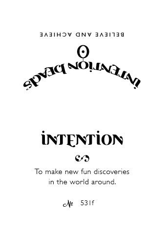 Intention Bracelet: To Make New Fun Discoveries in the World Around