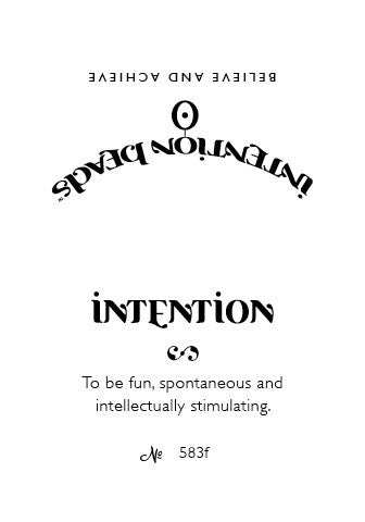 Intention Bracelet: To Be Fun, Spontaneous and Intellectually Stimulating