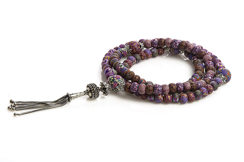 New Moon Mala Prayer Beads: For resourcefulness and determination to survive and to liberate our consciousness to new levels of awareness - Intention Beads | Astrology | Talisman