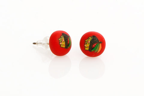 Blackhawks Post Earrings