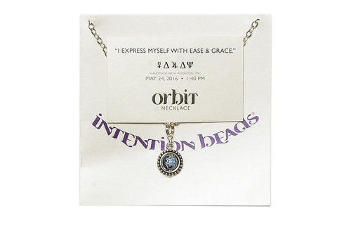 "Orbit Necklace: ""I express myself with ease and grace."""