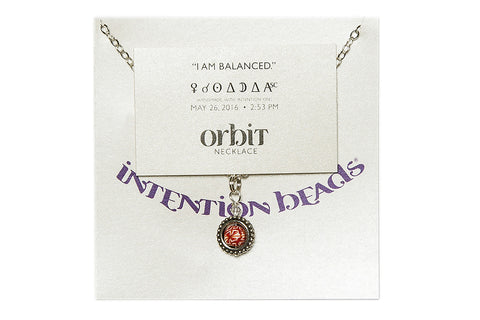 "Orbit Necklace:""I am balanced"""
