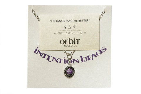 "Orbit Necklace: ""I change for the better"""