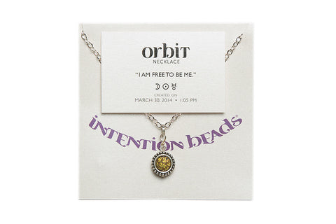 "Orbit Necklace ""I Am Free To Be Me"""