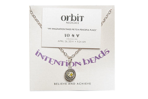 "Orbit Necklace ""My Imagination Takes Me To A Peaceful Place"""