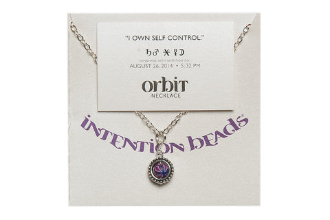"Orbit Necklace ""I Own Self-Control"""