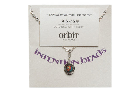 "Orbit Necklace ""I Express Myself With Integrity"""